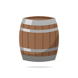 Wooden barrel vector isolated - 218931308