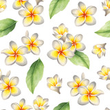 Watercolor seamless tropical pattern - 218933160