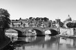 Rome Panorama Italy in black and white