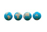 Different sides of planet earth, 3d illustration - 218941762