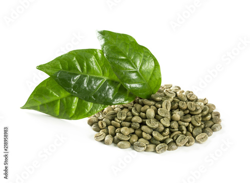 Green coffee beans - 218958983