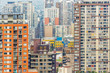 Abstract view of buildings in the city of Santiago, Chile - 218959593