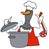 Cartoon duck character - 218962194