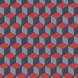 Colored geometric abstract surface pattern. 3d rendering