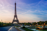 The Eiffel Tower (nickname La dame de fer, the iron lady),The tower has become the most prominent symbol of both Paris and France - 218965359