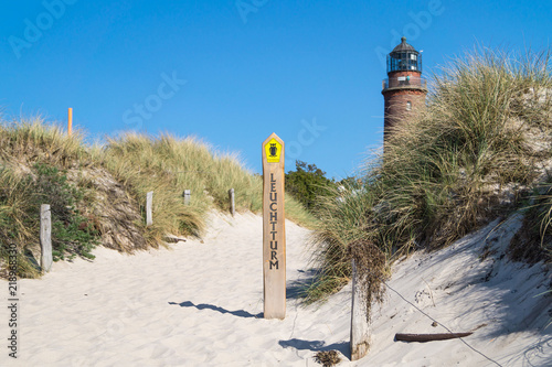 Strandaufgang Leuchtturm am Darßer Ort
