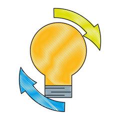 creativity light bulb idea arrow around © Gstudio Group