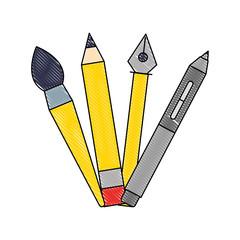 creativity pencil pen brush artistic tools © Gstudio Group
