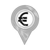 euro money europe pin location - 218979535