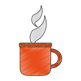 Hot coffee cup vector illustration graphic design