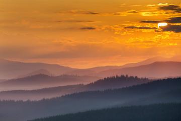 Summer sunrise in Bucovina, Romania © alexin0