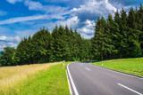 Germany, Perfect beautiful road through black forest summer landscape