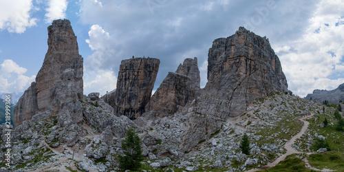 Panorama delle Cinque Torri, Dolomiti, Italia