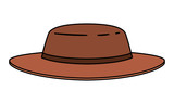 masculine elegant hat icon vector illustration design