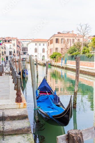 Venice channel with gondola