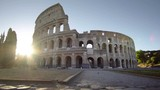 Colosseum in Rome and morning sun, Italy - 219020594
