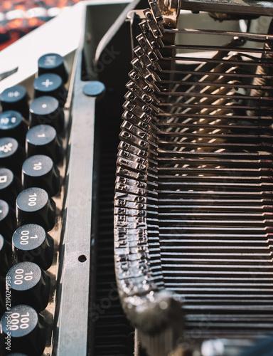 Old typewriter details - 219024938