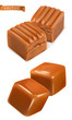 Caramel candies 3d vector