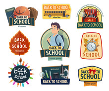 Back To School And Education Icons Sticker