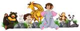 Safari girls and wild animals - 219055369