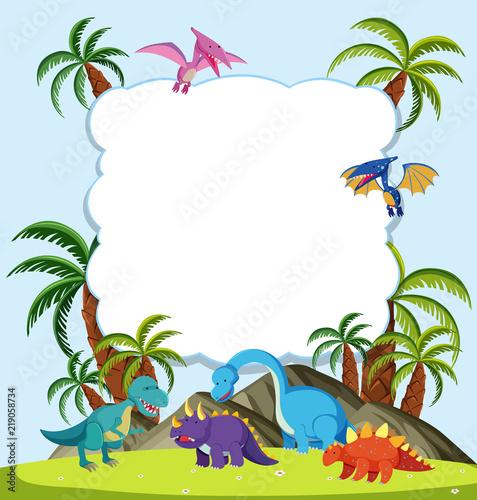 Fototapeta A Dinosaur frame concept