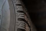 Car tyre close up