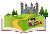Open book fairy tale story