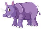 A cute rhinoceros on white background - 219062358