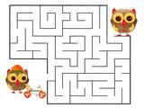 Funny maze game for Preschool Children. Illustration of logical education for children of preschool age. - 219068991