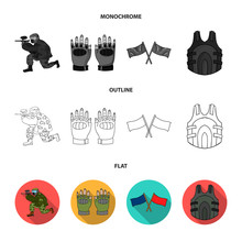Sport Game Paintball Competition Paintball Set  Icons In Flatoutlinemonochrome Style  Symbol Stock Illustration Web Sticker
