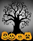 Halloween tree silhouette topic 4
