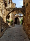 Stone medieval archs at Pals, Catalonia