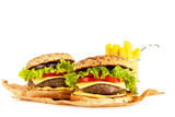 Delicious grilled burgers - 219113302