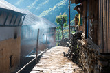Small village in Lamjung district, Nepal - 219122927