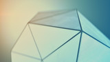 Polygonal shape with rough surface 3D rendering - 219125785