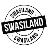 swaziland stamp on white - 219128502