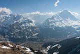 Mountain view in Switzerland