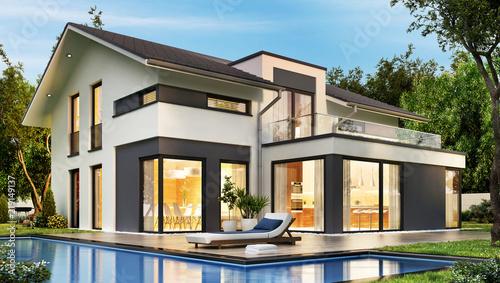 Leinwandbild Motiv das Traumhaus 2