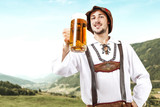 Bavarian people and free space for your decoration.  - 219150336
