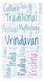 Vrindavan in rectangle shape word cloud. - 219153737