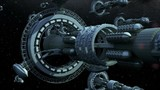 Alien spaceship armada nearing Earth, for futuristic, fantasy or interstellar deep space travel backgrounds.