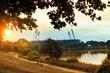 Leinwanddruck Bild - Bremen Deich