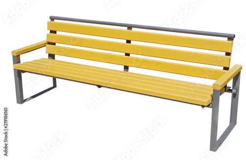 Park Bench Isolated on White - 219186161