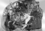 Joan of Arc - An hand painted illustration - 219194733