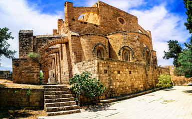 Landmarks of Cyprus  - Ghost town Famagusta and his monuments, northen turkish part of island