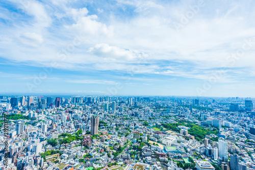夏の東京風景 Tokyo city skyline , Japan