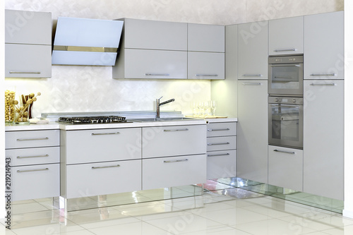 cucina moderna con mobile angolare   Buy Photos   AP Images   DetailView
