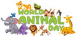 Wold animal day template