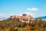 Acropolis and the Parthenon front Panoramic view in Athens Greece - 219233593