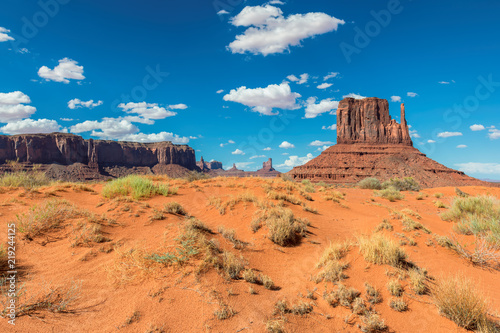 Sand dunes in Monument Valley at summertime in Arizona - Utah, USA - 219244125